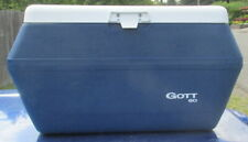 Vintage Blue Gott 60 Ice Chest / Cooler with Dual 8280 Refreeze Bottles