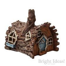Fiddlehead Fairy Garden - FAIRY HOME - Log House With Opening Door