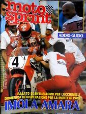 Motosprint 15 1983 Imola: morte di Guido Paci, entusiasmo per Lucchinelli [Q83]