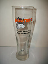 """HOOTERS OKLAHOMA CITY 9.25"""" TALL KITCHEN / BAR BEER GLASS  """"O's"""" ARE OWL EYES"""
