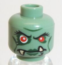Lego Troll Queen Head x 1 Sand Green for Minifigure