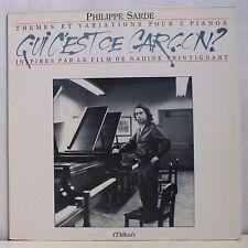 """33T Film QUI C'EST CE GARCON ? LP 12"""" NADINE TRINTIGNANT 2 PIANOS Philippe SARD"""