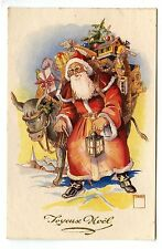 PERE NOEL. SANTA CLAUS. NOEL. CHRISTMAS . ANE.DONKEY	.JOUETS.TOYS .SAPIN. FIR.