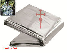 NEW REFLECTIVE SURVIVAL BLANKET Camping Bushcraft h