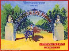 La Mirada Windermere Horse Buggy Lemon Citrus Fruit Crate Label Art Print