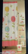"COLORMATE FLORAL FABRIC SHOWER CURTAIN  70""X72""  NEW IN BAG"