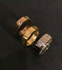 Bague love style cartier Argent, Or , Or rose Diamant