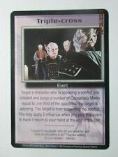 1999 Babylon 5 Ccg - Severed Dreams - Rare Card - Triple-Cross