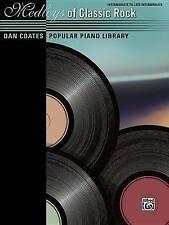 NEW Dan Coates Popular Piano Library -- Medleys of Classic Rock by Dan Coates