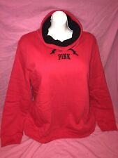 Victoria Secret Pink Sherpa Lined Cowl Neck Pullover Bright Red Rare XL New ❤️❤️