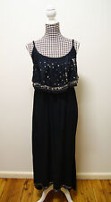 CROSSROADS DRESS BLACK EMBELLISHED FRILL MAXI DRESS, Sz 18 NWT RRP $70