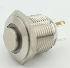 16mm Thread 12V White LED Momentary Push Button Switch 1NO 4Pin
