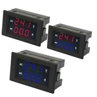 LED Digital Display AC 100~300V Voltage Gauge Meter 0-50A Ammeter