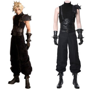 Final Fantasy VII 7 Remake Cloud Strife Cosplay Costume Armor Bracer Boots