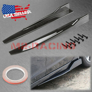 Gloss Black Universal Car Side Skirt Splitters Diffuser Body Kit Winglet Wings