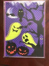 PAPYRUS HALLOWEEN CARD NIP MSRP $5.95 3-D GHOST LENTICULAR (B4)