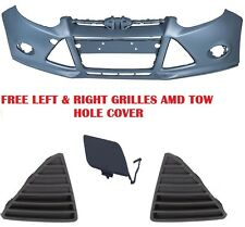 NEW 2012-2014 FO1000664 FITS FORD FOCUS FRONT PRIMERED BUMPER COVER