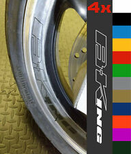 4x Suzuki B-King Wheel Rim Sticker Decal Motorcycle Vinyl BKING 1350 GSX 1300