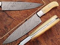 CUSTOM MADE DAMASCUS BLADE  CHEF/KITCHEN KNIFE- A-E 04