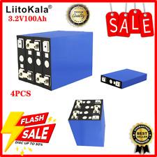 4Pcs 3.2V 100Ah LiFePO4 Battery Pack Iron Phospha DIY 4S Electric Car Solar