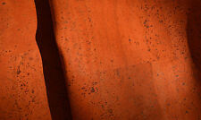 """36"""" x 18"""" ORANGE CORK Fabric finest available, Made Portugal TEXTILE QUALITY H65"""