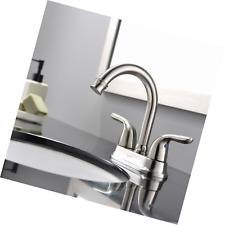 UFaucet Modern Brushed Nickel Steel Bathroom Lavatory Vanity Basin Vessel Sink F