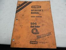 Owatonna 596 Roll Baler Operator' Manual