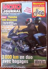 "MOTO JOURNAL 10/11/1994; Yamaha 900 Diversion/ Aprilla Mono 650 ""Starck"""