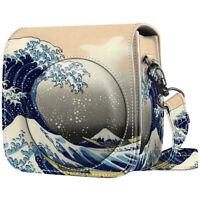 For Fujifilm Instax Mini 8 Mini 8+ Mini 9 Camera Case Bag Cover - Rough Sea
