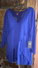 Vince Camuto Women's Downtown Oasis Royal blue Blouse $79 Sz XL