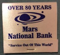 Mars National Bank - Pennsylvania - Matchbook