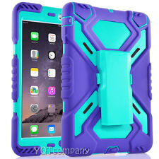 Shockproof Heavy Duty Rubber With Hard Stand Case Cover Fr Apple iPad Mini 1 2 3