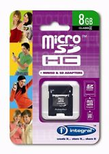 Integral 8GB Micro SDHC Card and Card adapters Micro SDHC memory Card