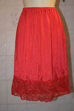 """New 2XL 26"""" red half slip 5"""" of lace"""