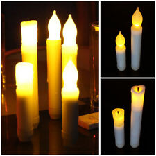Unique  Long Flameless Candles Flickering LED Tea Light Candles Battery Tealight