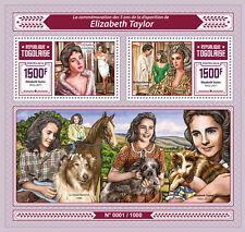 Togo 2016 MNH Liz Elizabeth Taylor 2v S/S Richard Burton Movie Stars Stamps