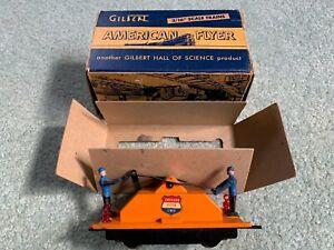 American Flyer #742 AFL Reversing Hand Car orange w/original box works runs 55/6