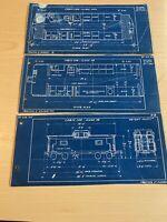 Pennsylvania Railroad 1950's Train Cabin Car Blueprints N5c N8
