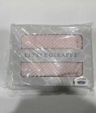 """Little Giraffe Honeycomb Blanket in Pink 36.5"""" W x 30.5"""" L 100% faux fur"""