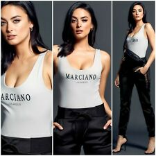 🖤🤍 NWT GUESS BY MARCIANO  SCOOP-NECK LOGO BODYSUIT SIZE XS  🖤🤍
