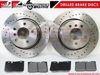 FOR LEXUS LS400 FRONT DRILLED PERFORMANCE BRAKE DISCS & PADS OE QUALITY 315mm