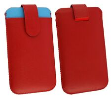 Genuine Calf Skin Leather Pouch Case Sleeve Fits ZTE Phones