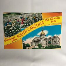 Greetings from South Carolina The Palmetto State Unposted Postcard