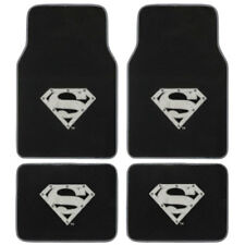 New DC Comics Superman Silver Shield Car Truck Front Rear Carpet Floor Mats