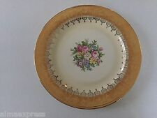 "Homer Laughlin China HLC2304 Eggshell Nautilus, Gold, Flowers - 10"" DINNER PLATE"