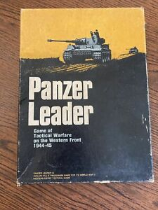 Panzer Leader 1974 Book Case Board Game Avalon Hill Adult Owned Strategy Game