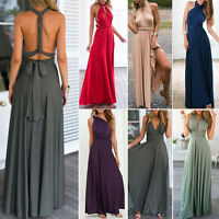 Women Evening Dress Convertible Multi Way Wrap Bridesmaid Formal Long Dress