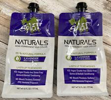Splat Naturals Semi-permanent Hair Color Lavender Best for Blondes 6oz *LOT OF 2