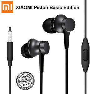 100% Original XIAOMI Piston Pro Basic Edition Kopfhörer Headset 3.5mm Schwarz