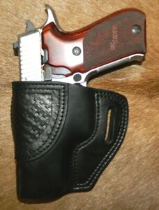 """Gary C's Leather Avenger OWB Left Hand HOLSTER for Sig Sauer P220 Carry 3.9"""""""